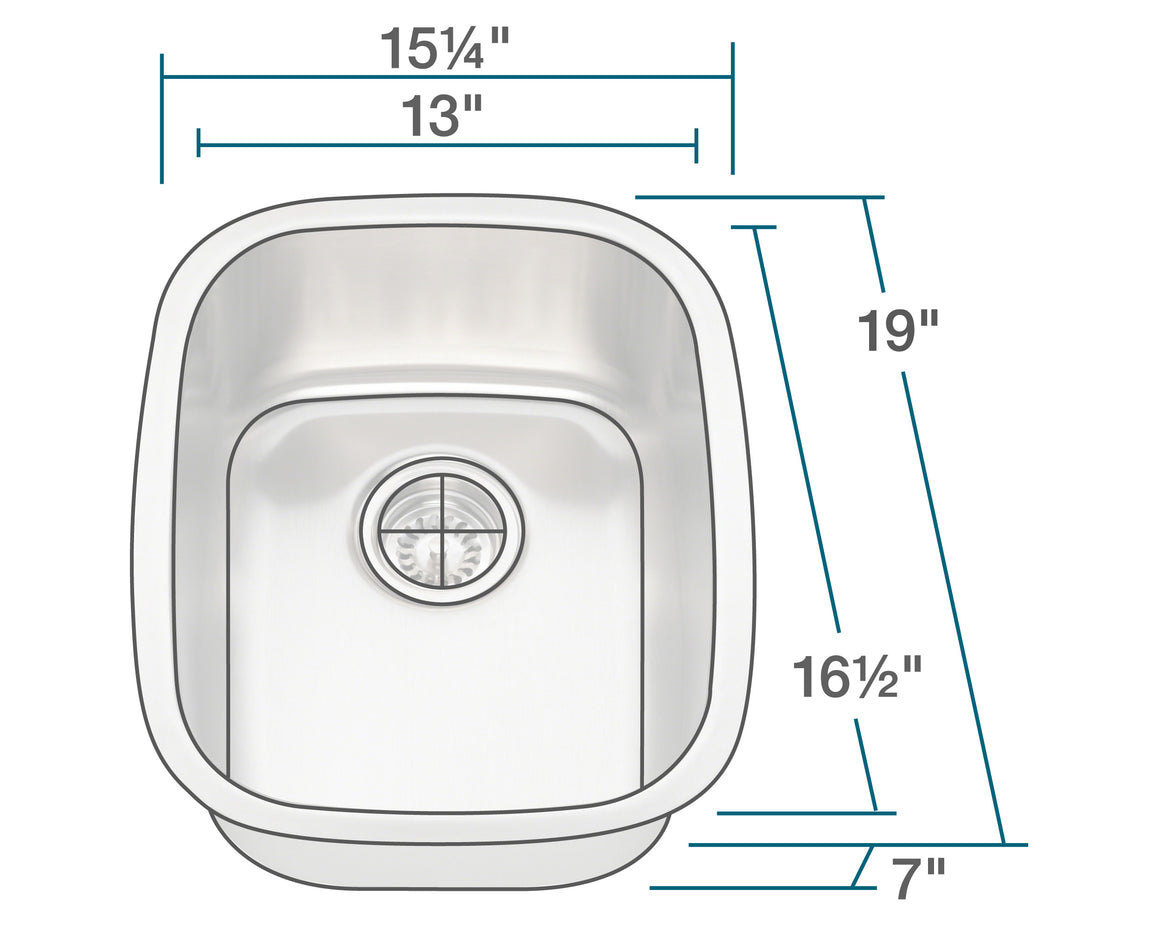 P5181-16 Stainless Steel Bar Sink