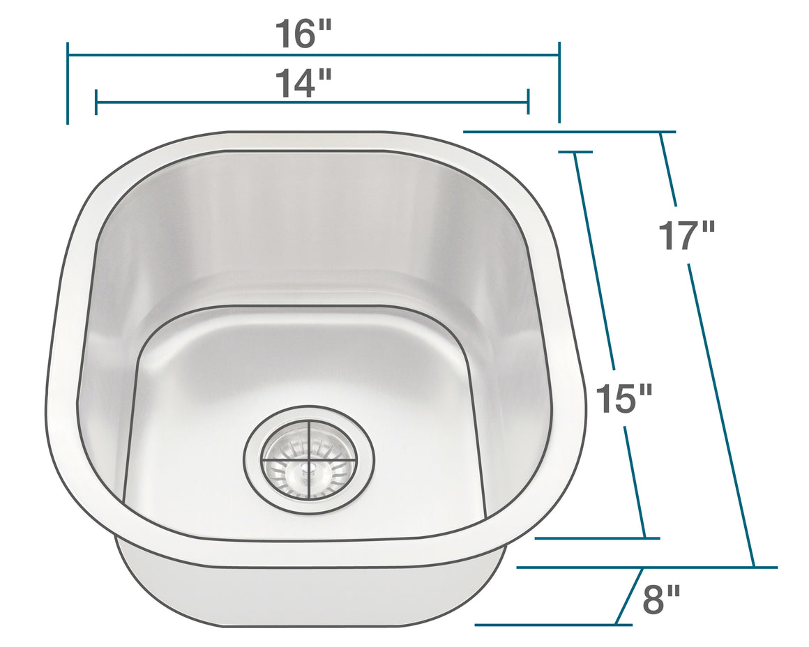 P6171-16 Stainless Steel Sink
