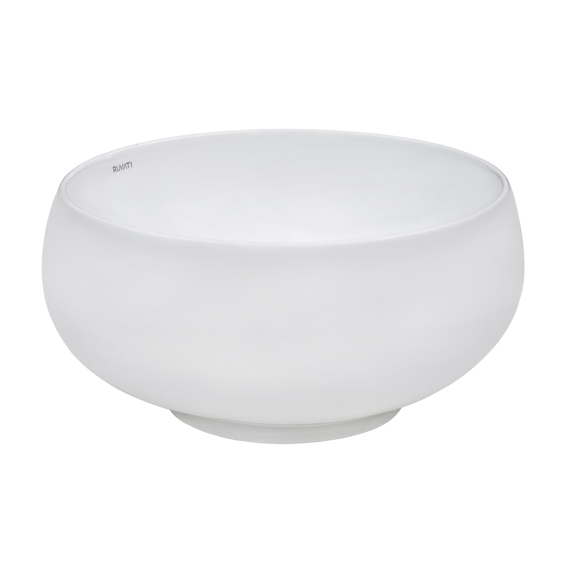 Ruvati 12 inch Bathroom Vessel Sink Round White Circular Above Counter Porcelain Ceramic
