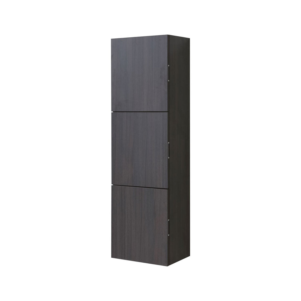 "Bliss 18"" Wide by 59"" High Linen Side Cabinet With Three Doors in High Gloss Gray Oak Finish"