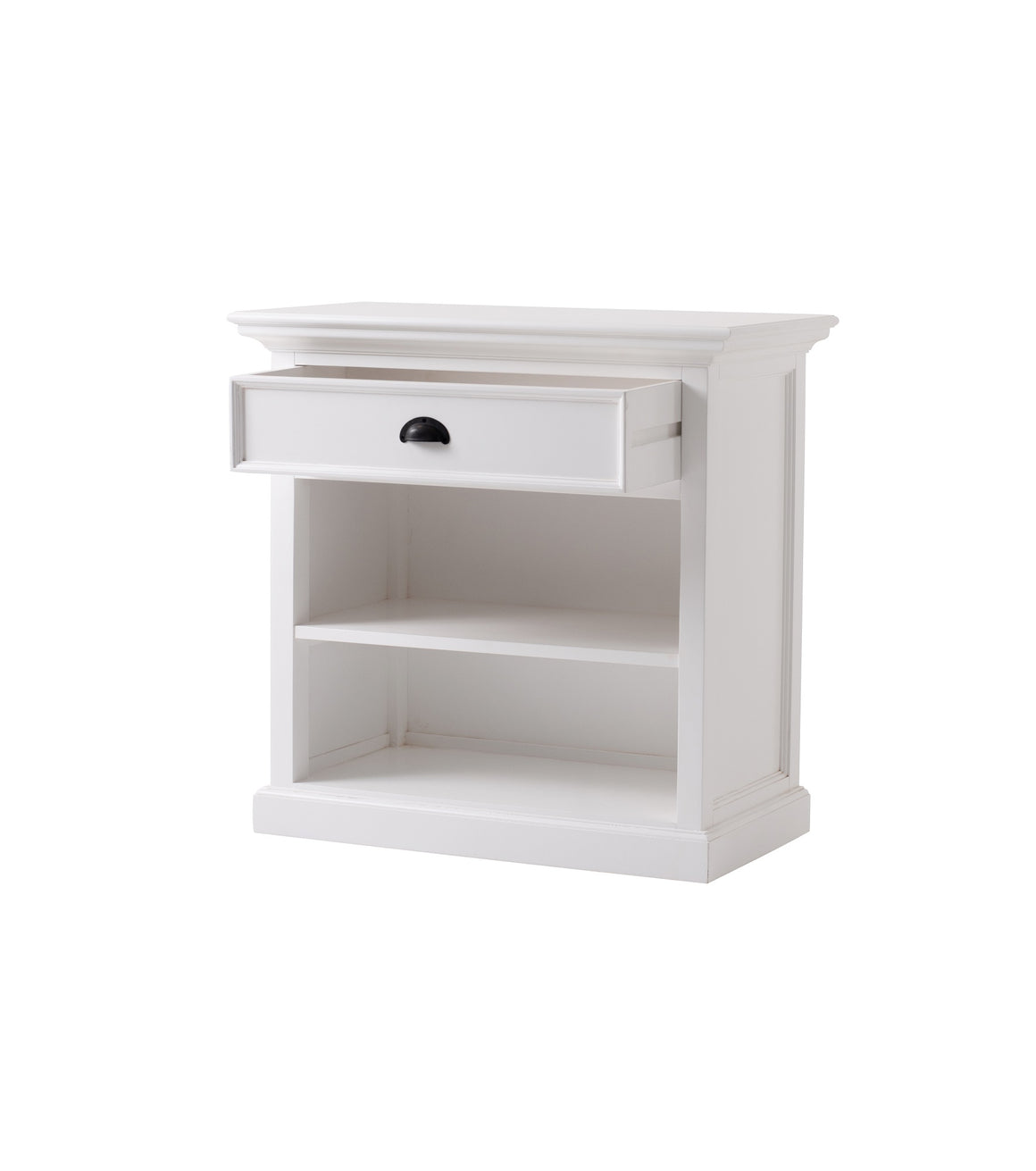 Halifax grand T764L Bedside Table With Shelves