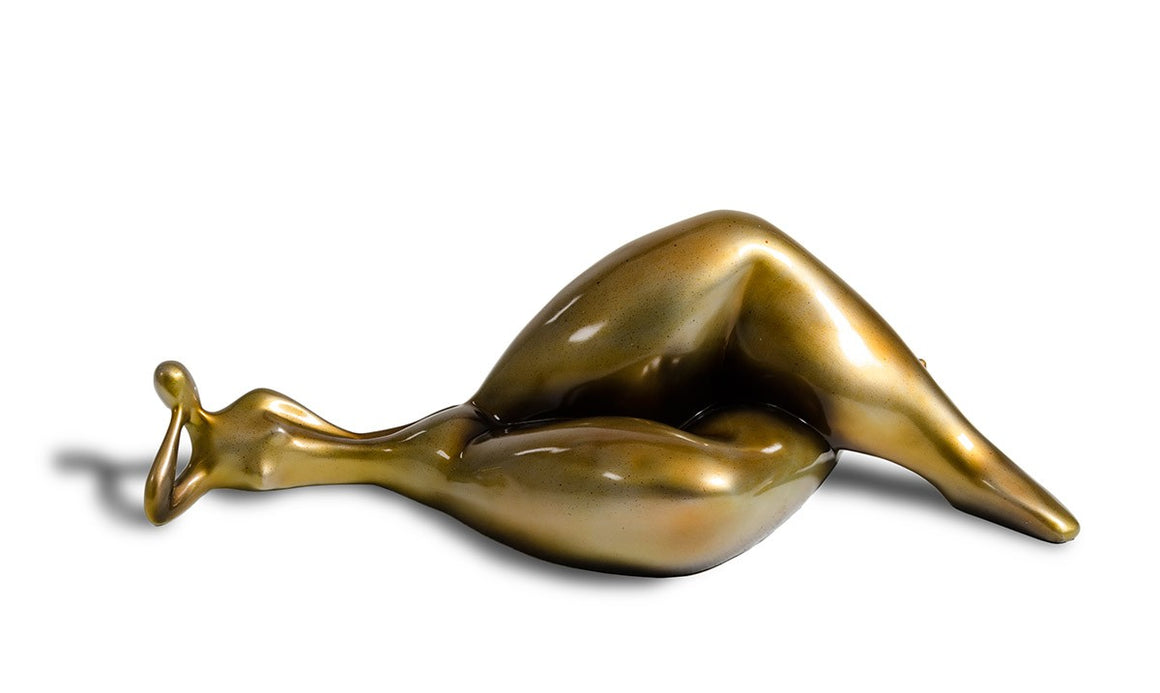 SZ0228 Modern Gold Napping Lady Sculpture