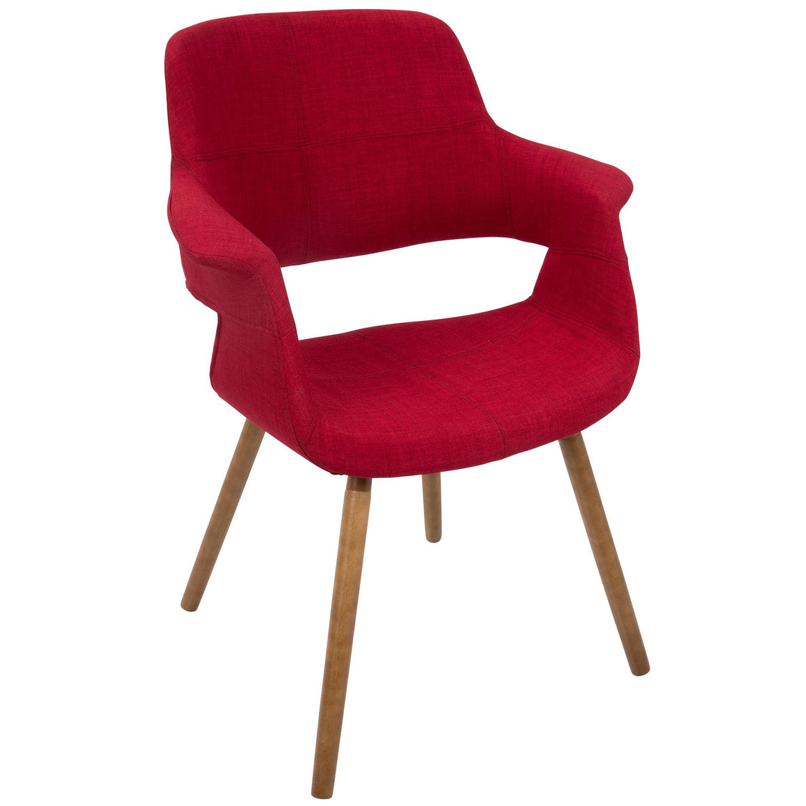Vintage Flair Mid-Century Modern Chair in Red by LumiSource