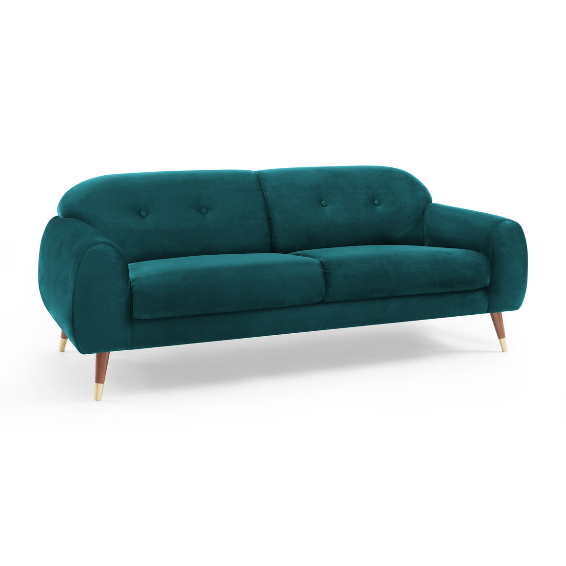 IRIS Velvet Sofa in Petro Green