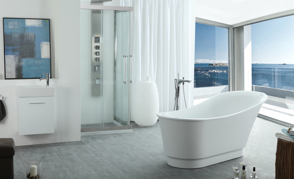 "Legion Furniture WE6803 67"" Acrylic Bathtub"