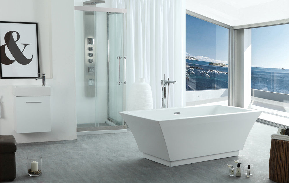 "Legion Furniture WE6817 67"" Acrylic Bathtub"