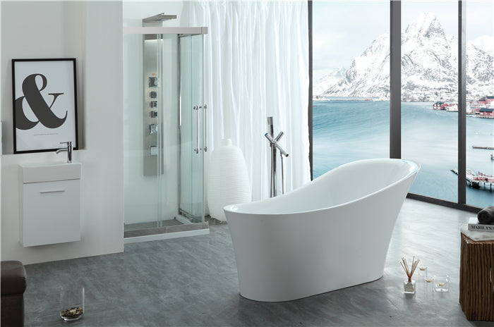 "Legion Furniture WE6843 67"" Acrylic Bathtub"