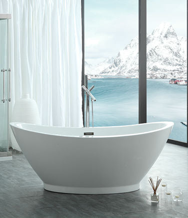 "Legion Furniture WE6845 Acrylic 69.9"" Acrylic Bathtub"