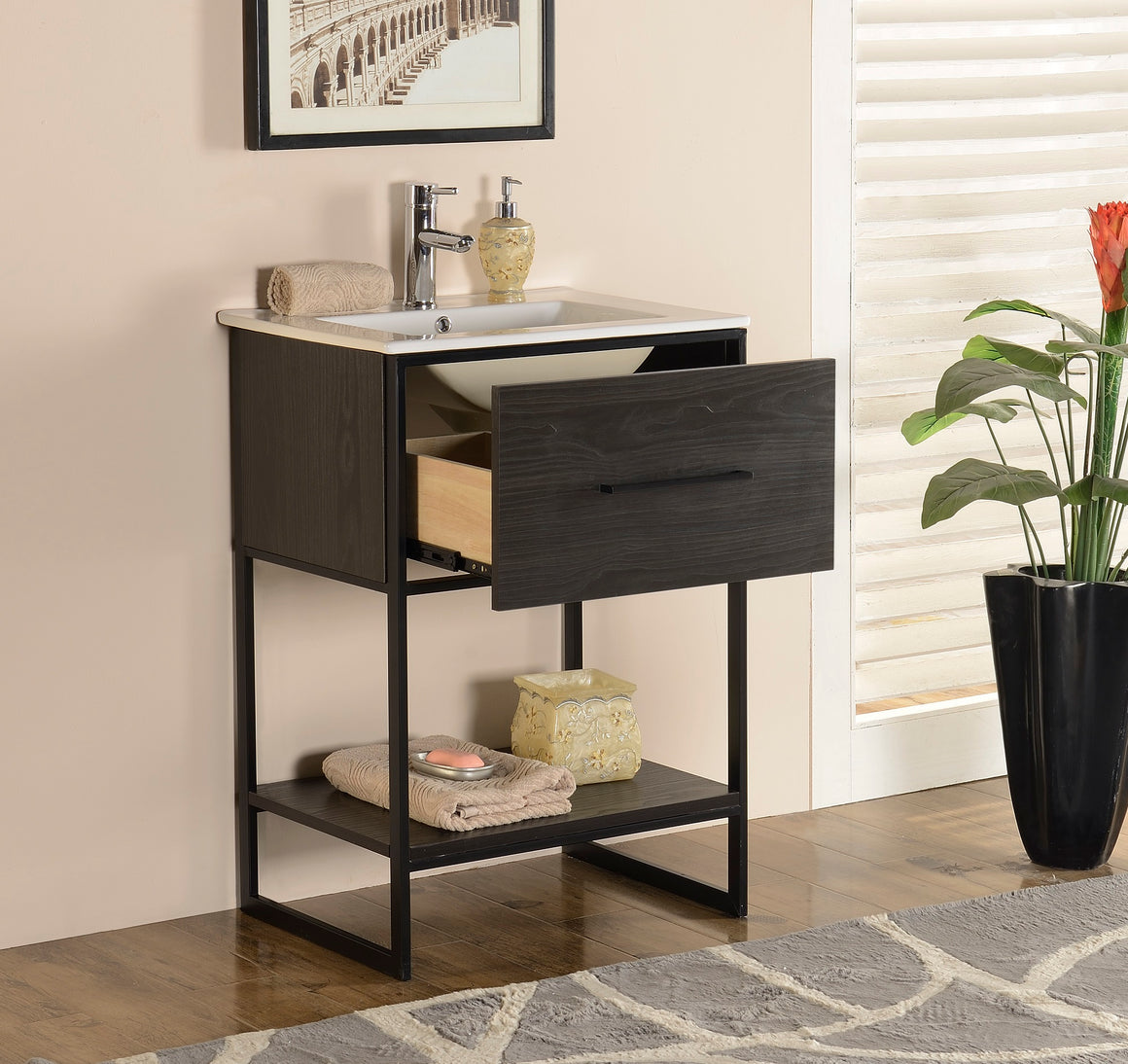 "24"" Bathroom Vanity in Espresso Finish by Legion Furniture WH7024EB"