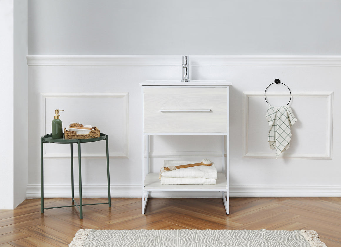 "24"" Bathroom Vanity in White Finish by Legion Furniture WH7024-WW"