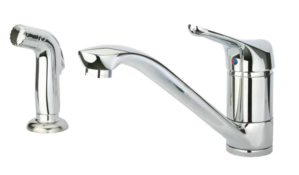 Metrohaus single lever faucet with matching side spray