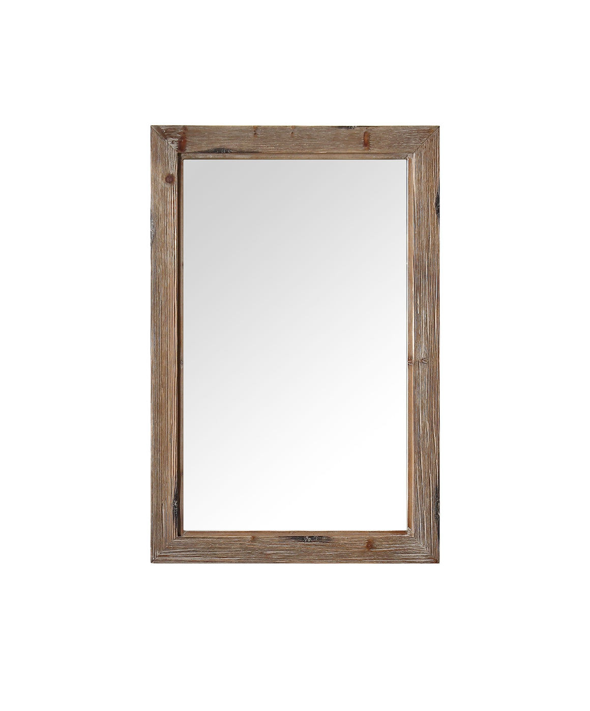 "24"" Rustic Fir Mirror with Distressed Finish"