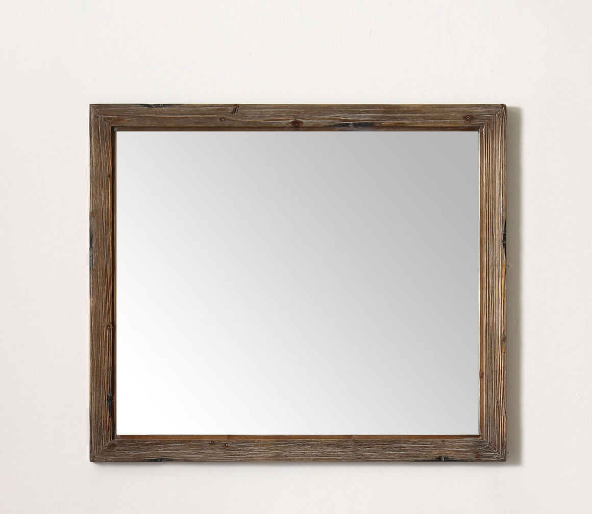 "42"" Rustic Fir Mirror with Distressed Finish"