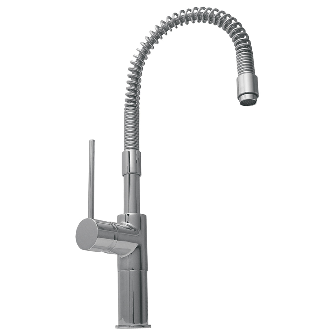 Metrohaus commercial single hole faucet with flexible spout and lever handle