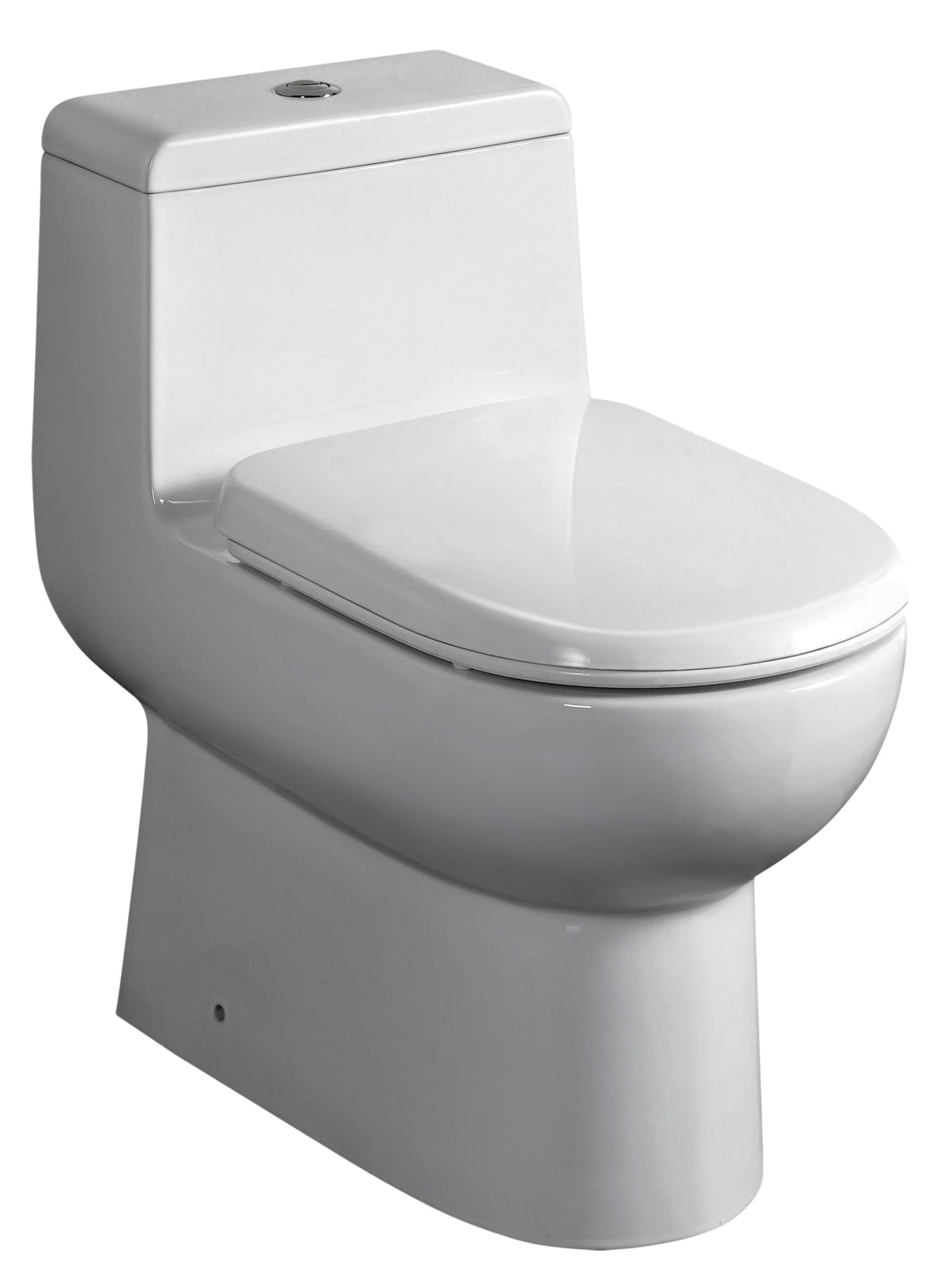 One piece dual flush eco-friendly toilet