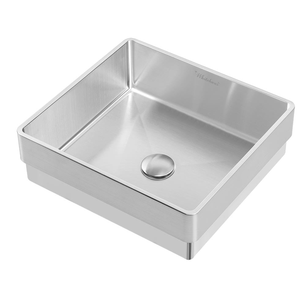 Noah Plus 10 gauge frame, Squared Semi-recessed Basin Set with center drain