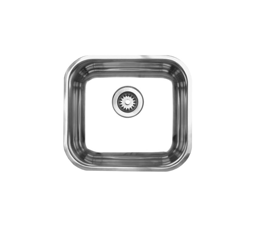 Noah's Collection Brushed Stainless Steel single bowl undermount sink