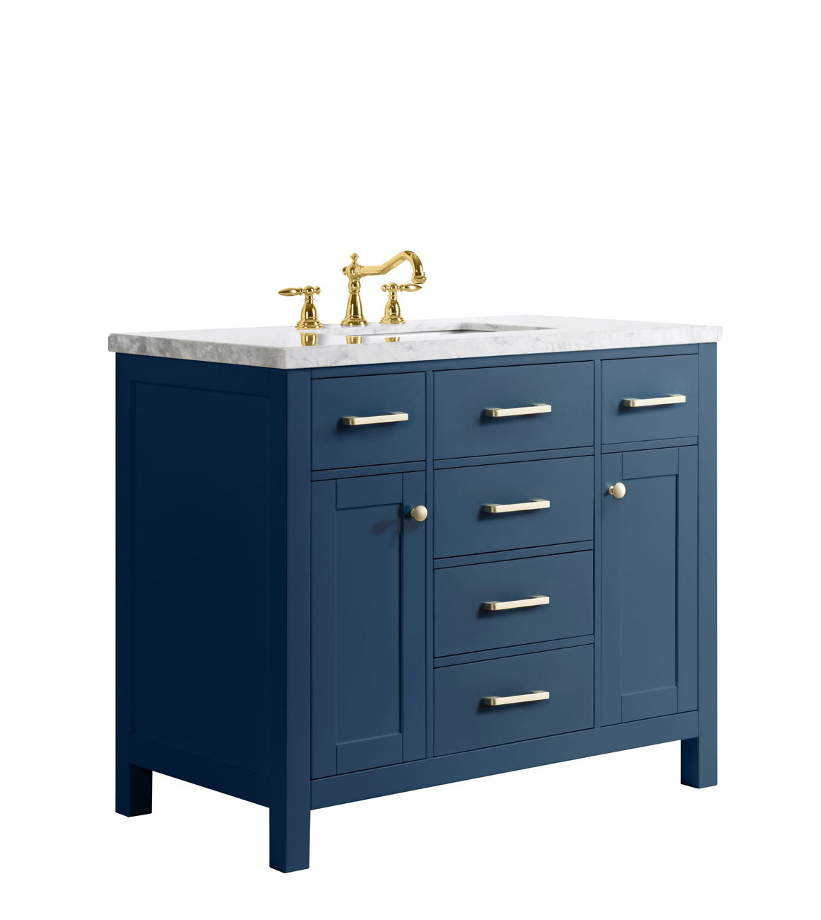 "Yazmin 40"" Single Bathroom Vanity Set in Blue"