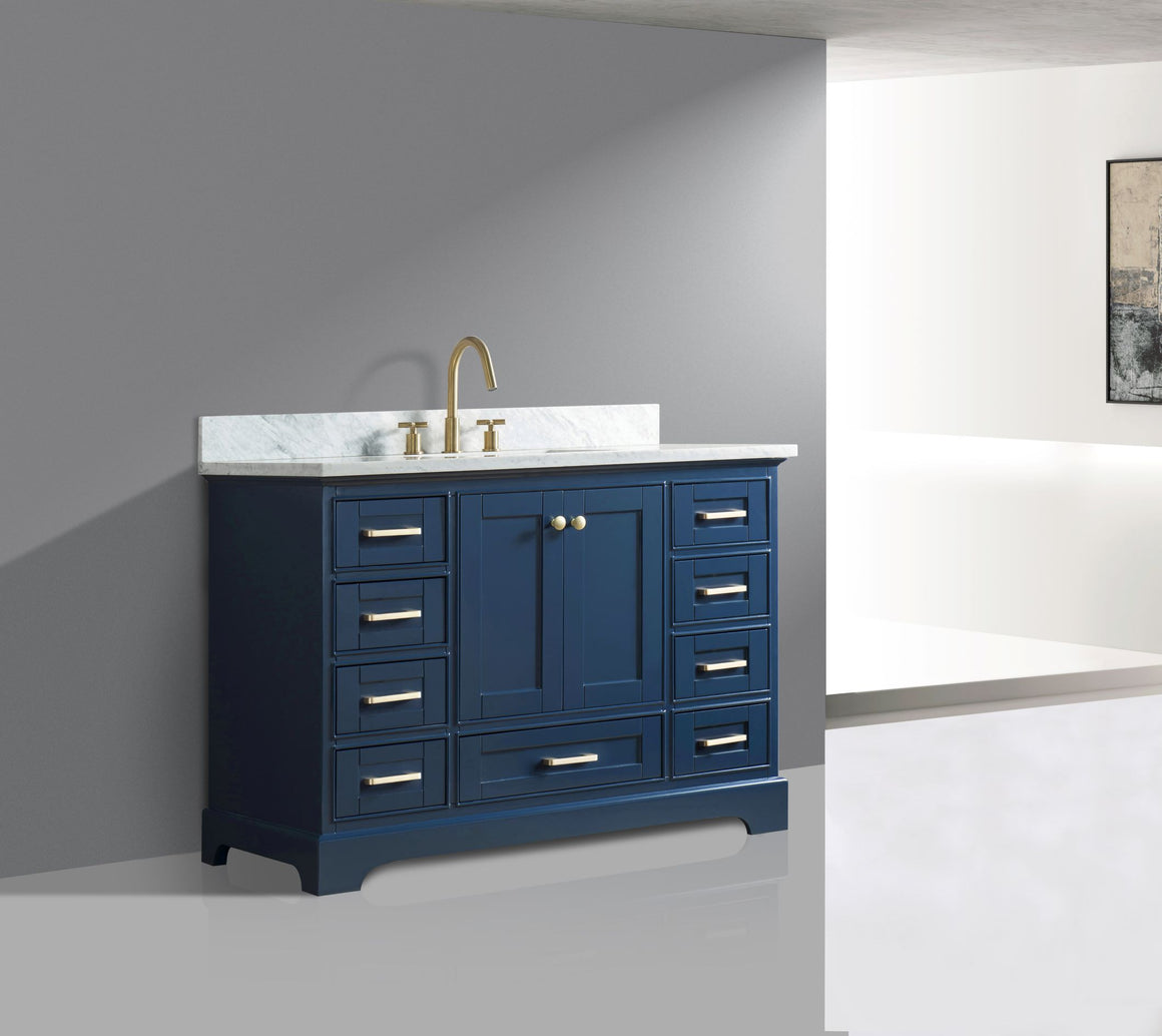 "Yazmin 48"" Single Bathroom Vanity Set in Blue"
