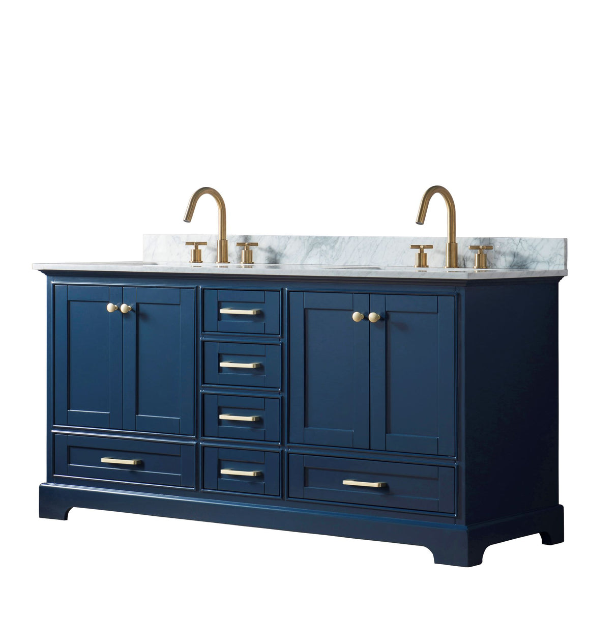 "Yazmin 72"" Double Bathroom Vanity Set in Blue"