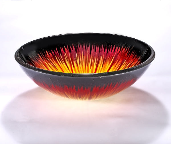 InFurniture ZA-1204 Glass Sink Bowl in Lava