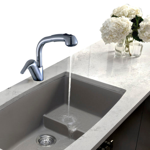 Legion Furniture ZK88407-PC ZK Series Single Hole Pull-Down Faucet
