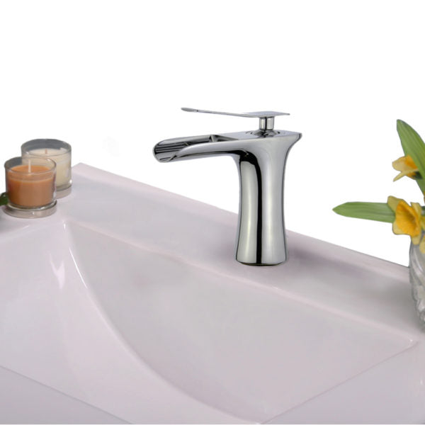 ZL10129B1-PC Legion Furniture Single Hole Single Handle Bathroom Faucet with Drain Assembly