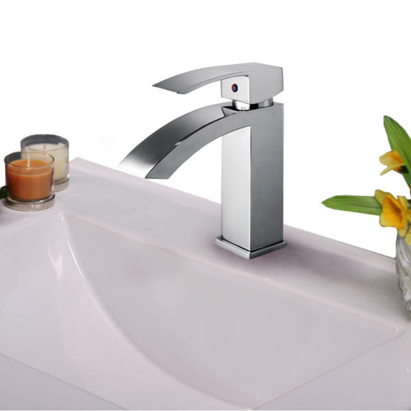ZL12266-PC Legion Furniture Single Hole Single Handle Bathroom Faucet with Drain Assembly