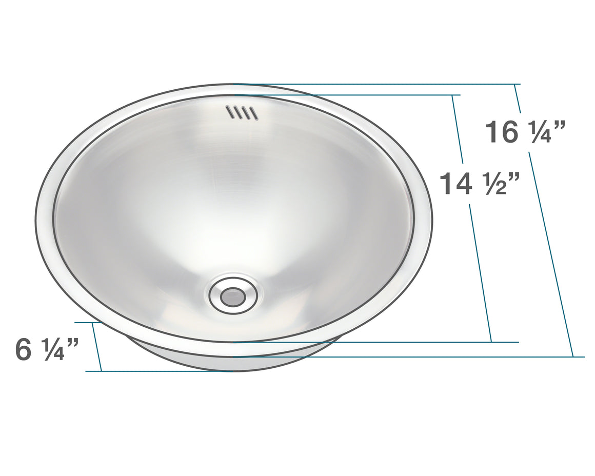 P024 Stainless Steel Bathroom Sink
