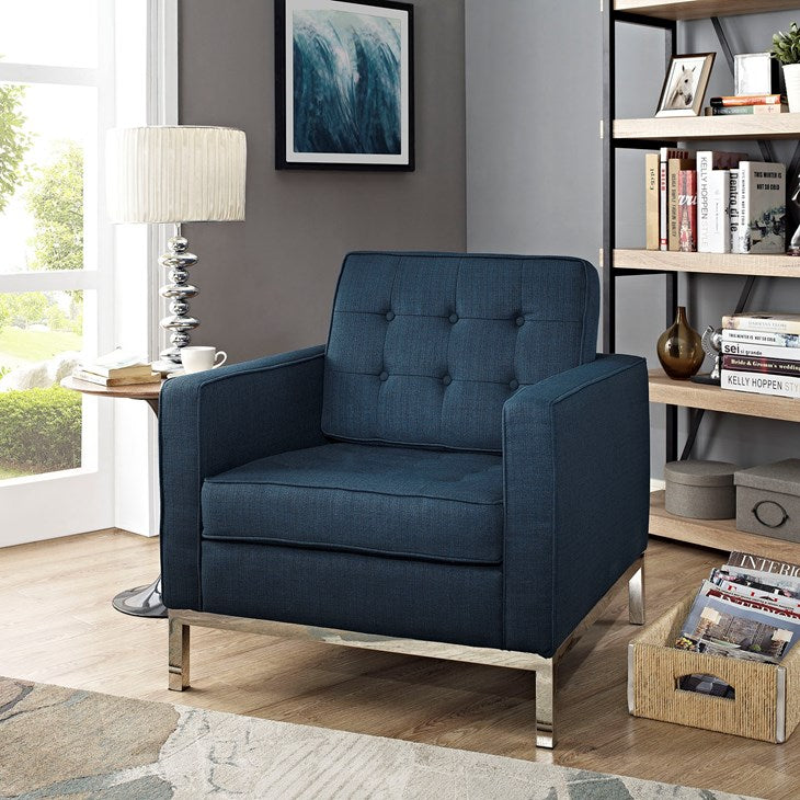 Loft Upholstered Fabric Armchair