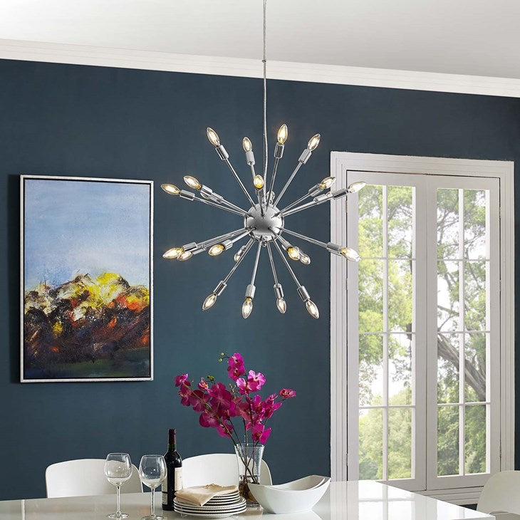MODWAY GAMUT METAL CHANDELIER IN CHROME