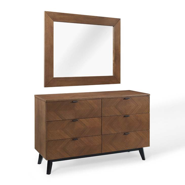 Kali 2 Piece Bedroom Set in Walnut