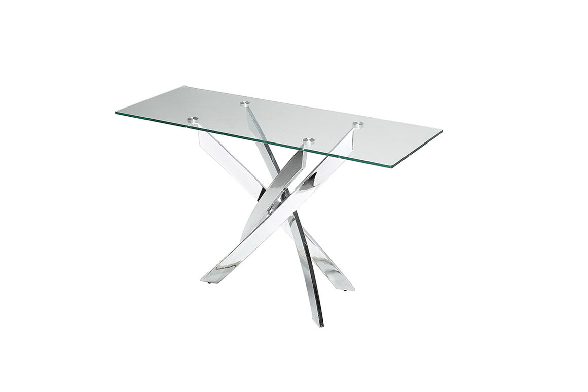 Modrest Pyrite Modern Glass Console Table