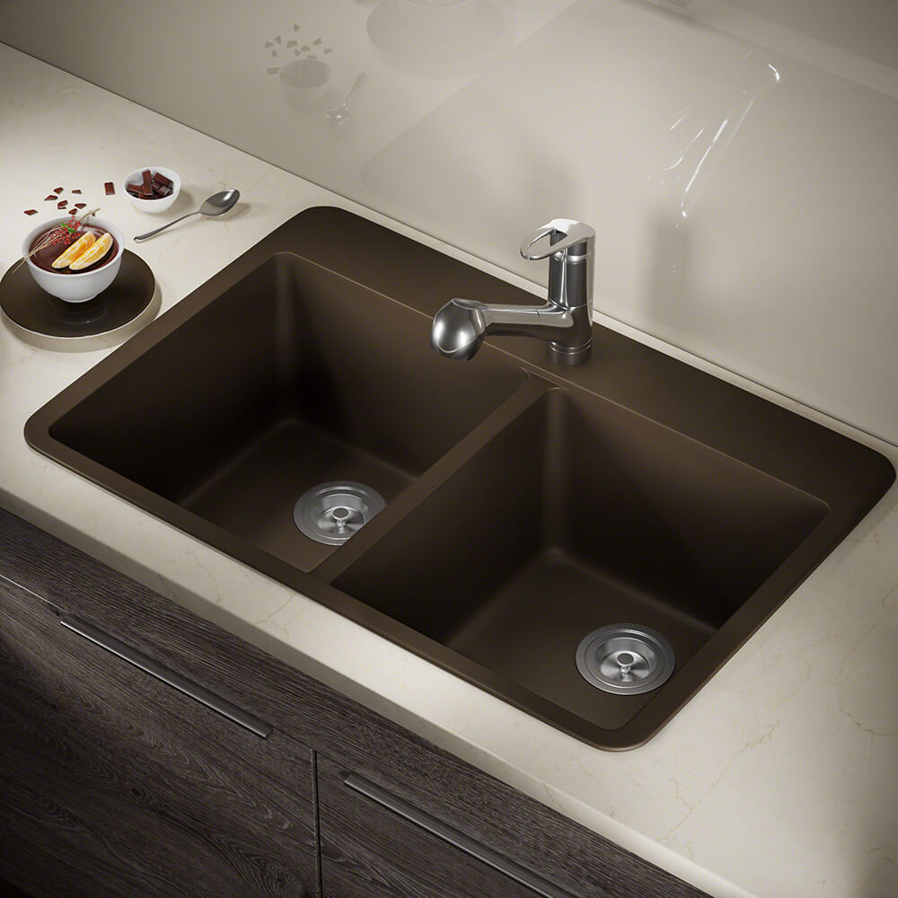 P208TM Double Equal Bowl Topmount AstraGranite Sink