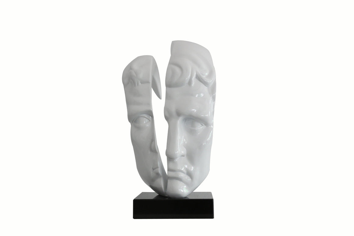 Modrest Face Modern White Sculpture