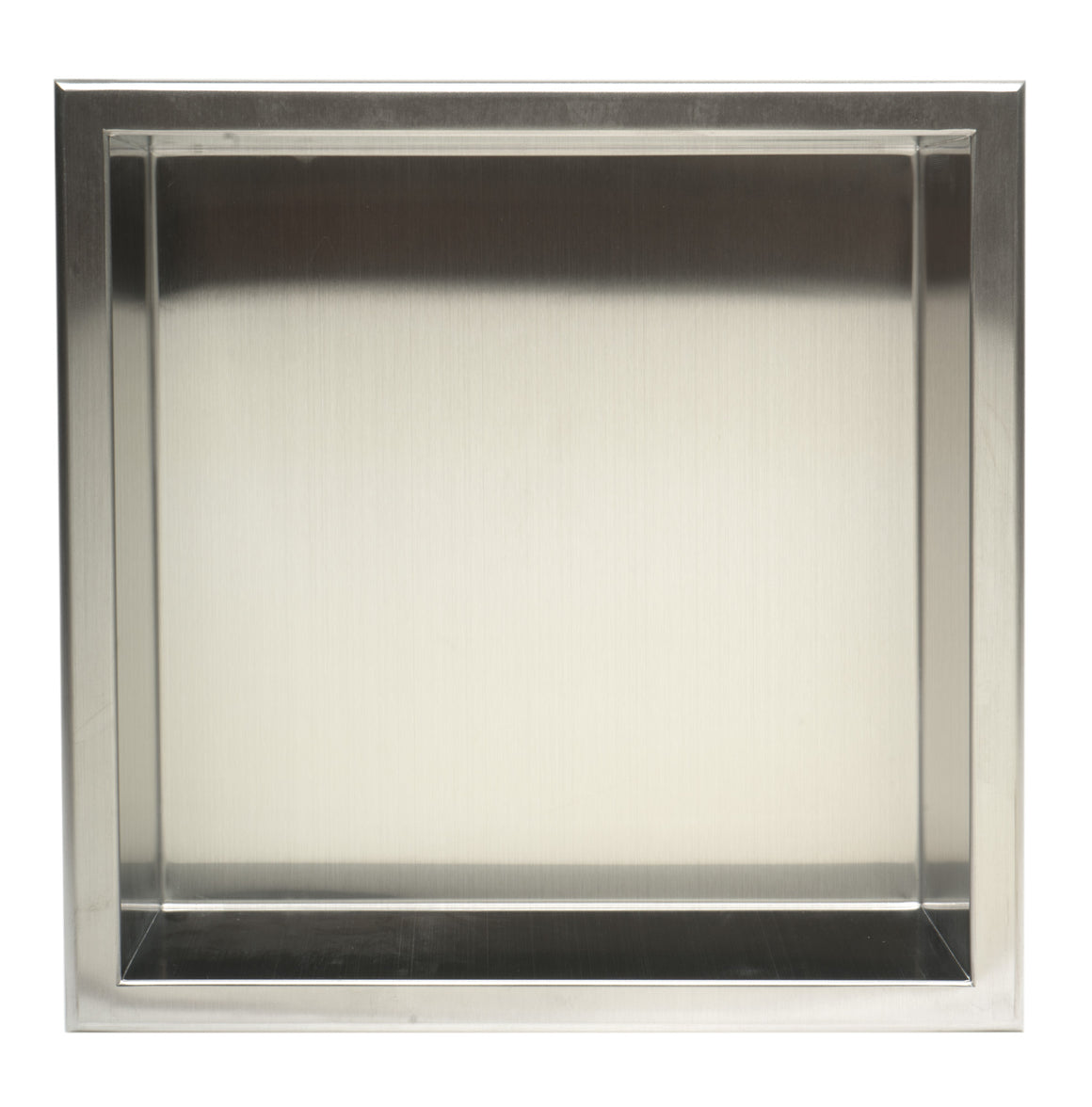 ALFI brand 12 x 12 Brushed Stainless Steel Square Single Shelf Bath Shower Niche