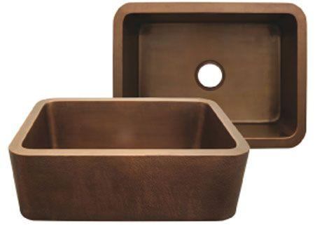 Copperhaus rectangular undermount sink with smooth front apron
