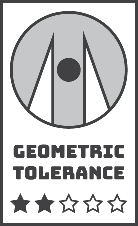 White Neoball Geometric Tolerance