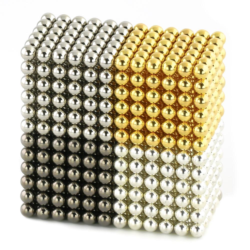 Multimetal Electroplated Magnet Cube Balls