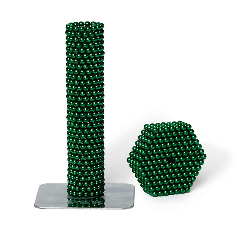 green colored micro magnet balls by speks