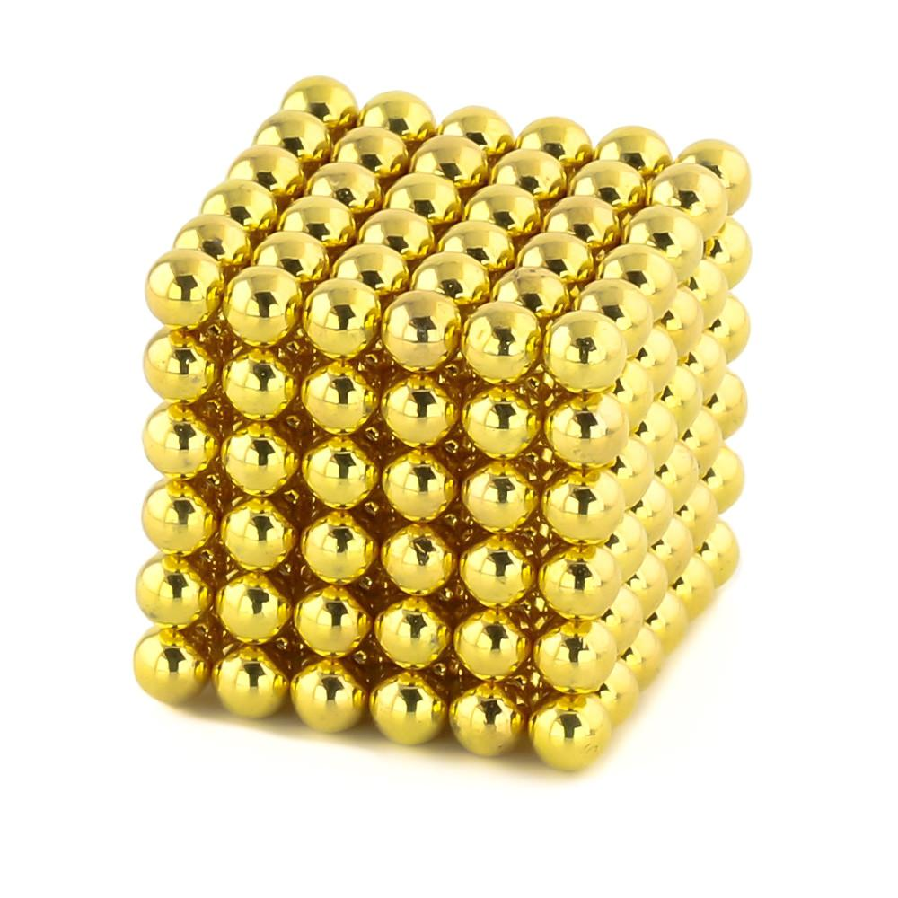 gold neoballs sculpture magnet spheres cube