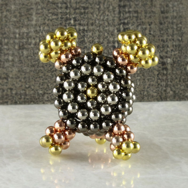 MULTImetal neoballs sculpture magnet balls rose gold silver