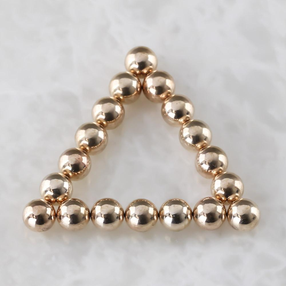 rose gold neoballs sculpture magnet spheres
