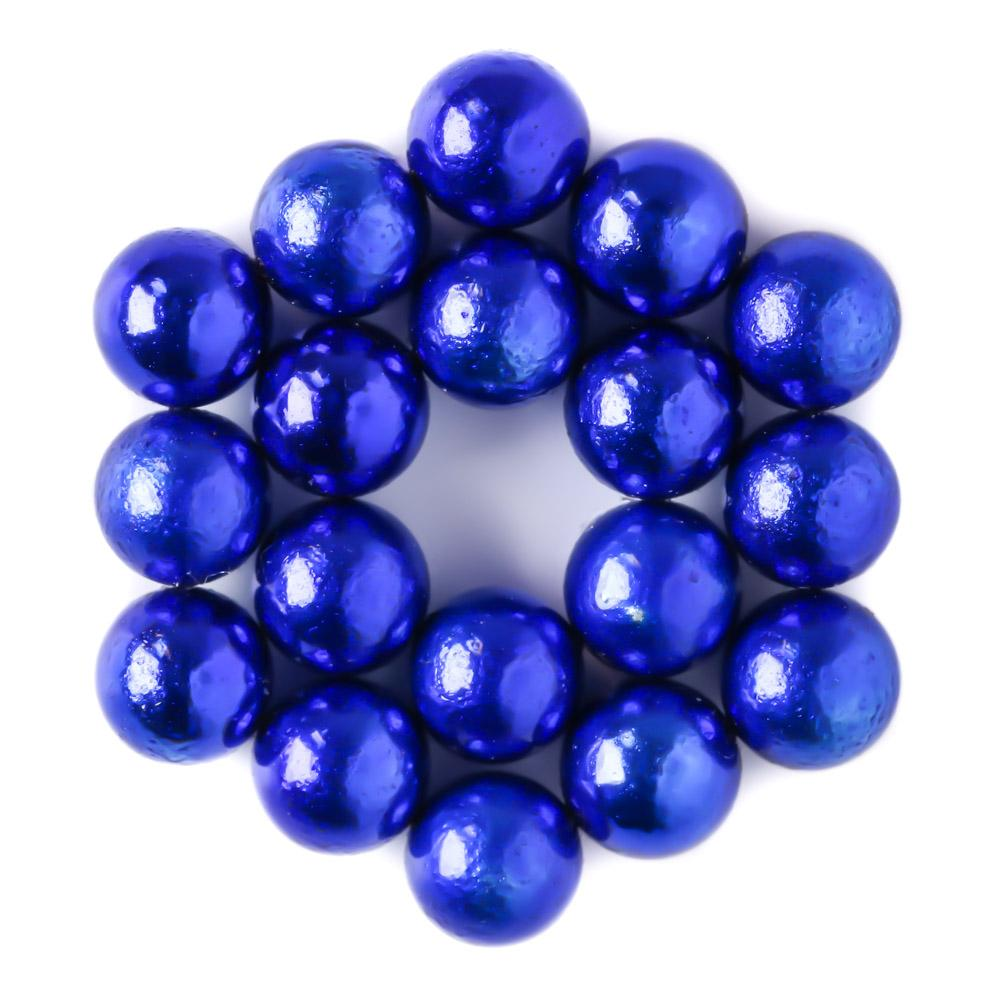 blue neoballs sculpture magnet spheres hex