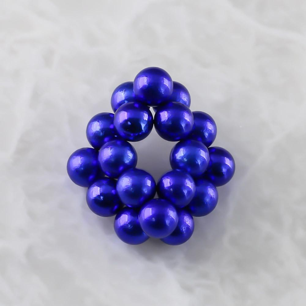 blue neoballs sculpture magnet spheres