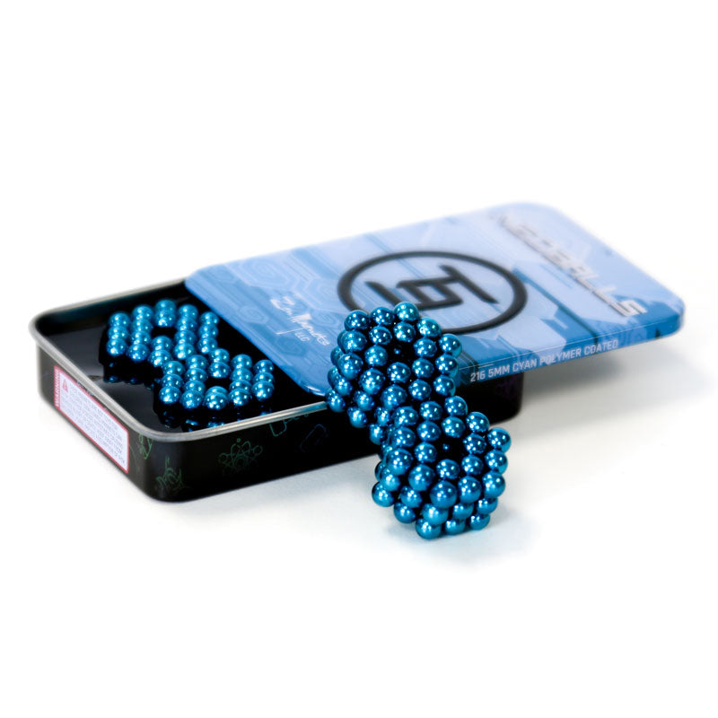 Neoballs 216 Cyan Magnetic Balls by Zen Magnets