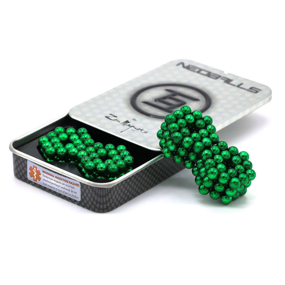 Clearance Neoballs 216 Green Magnetic Balls by Zen Magnets