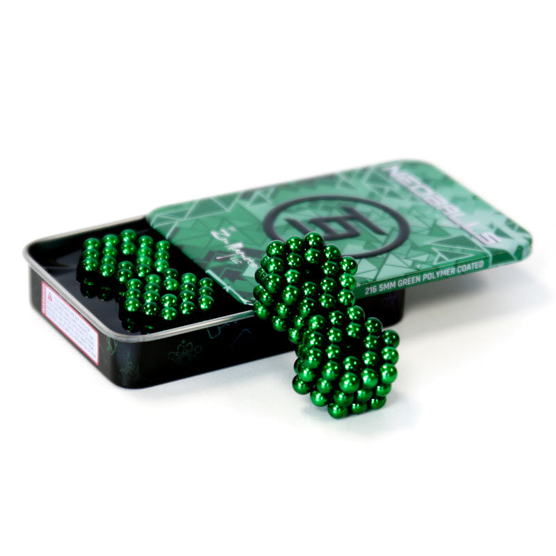 216 magnets Green Neoballs neodymium Tin Set