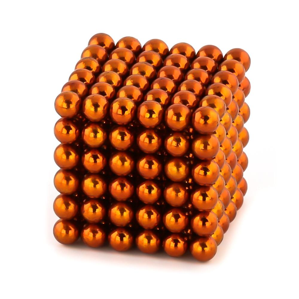 orange neoballs sculpture magnet spheres cube