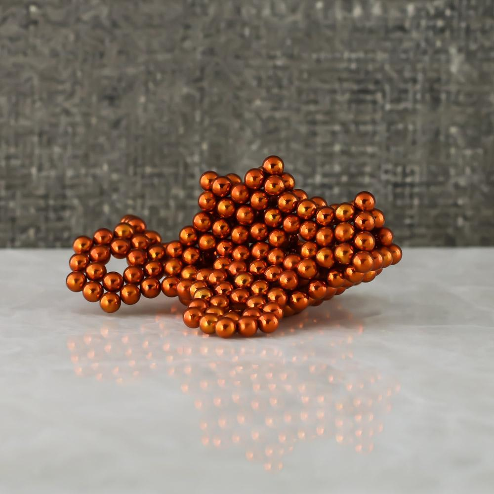 orange neoballs sculpture magnet spheres